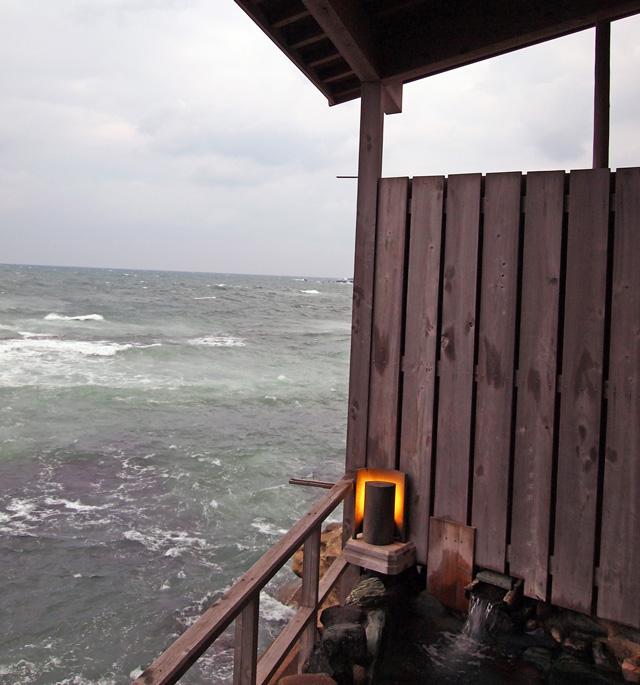 福井望洋楼の部屋(露天風呂)の眺め
