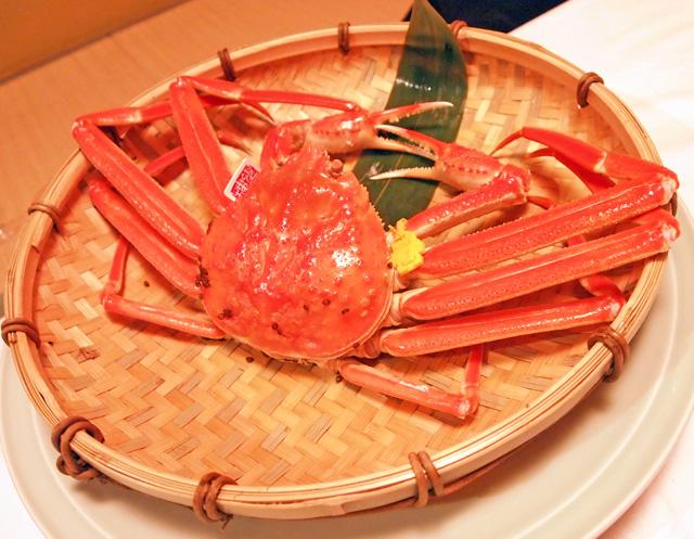 福井望洋楼の越前蟹(ずわい蟹)