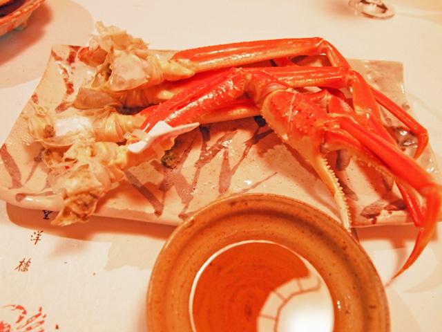 福井望洋楼の料理(越前蟹・ずわい蟹)